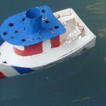 Here is a boat made by Illinois kindergarten teacher Gail and her husband.  (From sciencetoymaker.com)